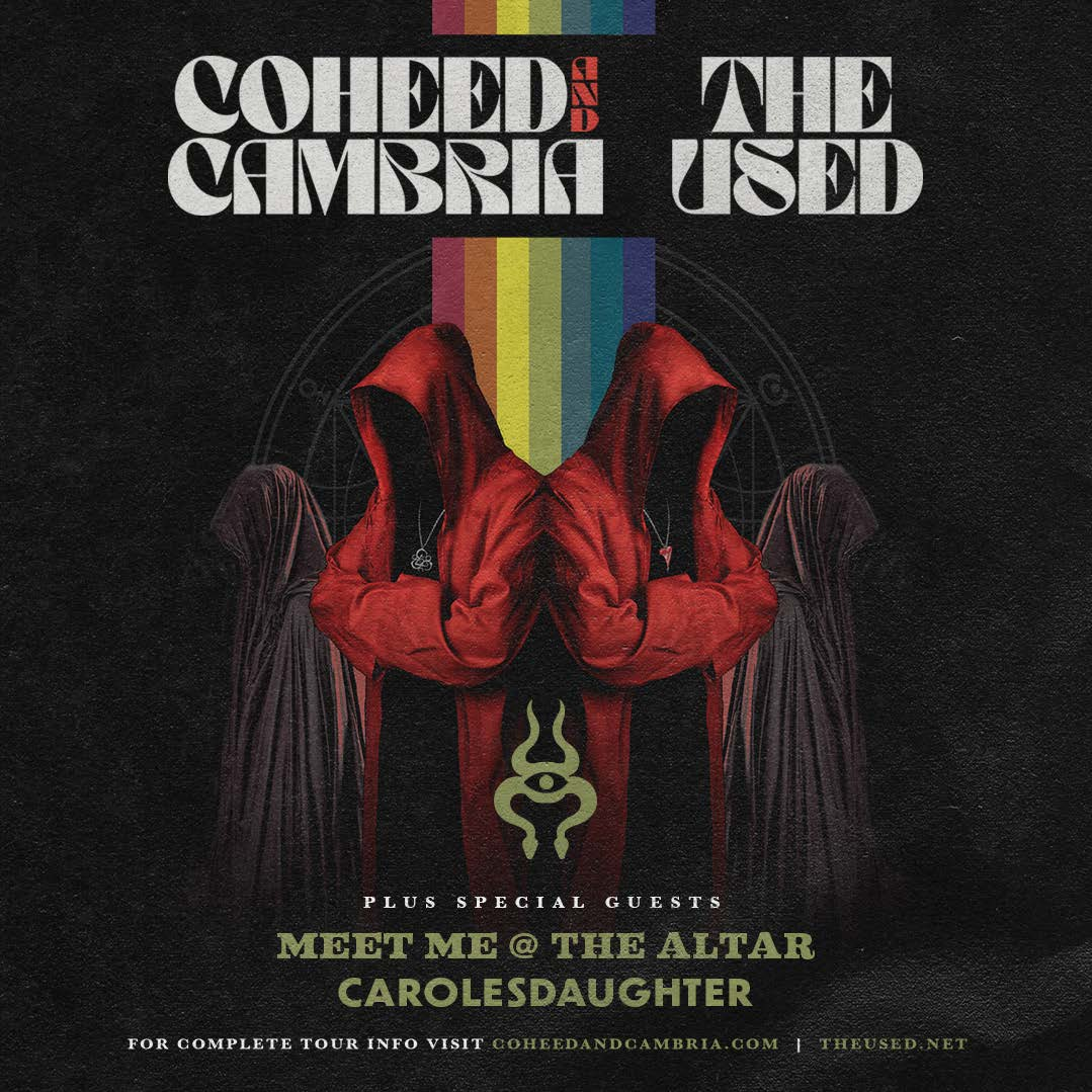 Coheed and Cambria The Used 2021 Tour Alert